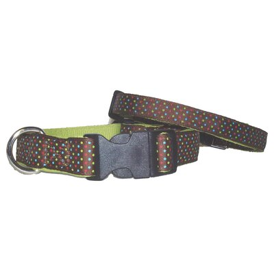 Triple Brown Dots Adjustable Dog Collar