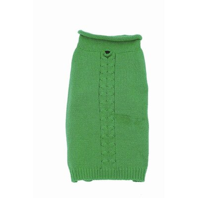 A Pet's World Roll Neck Single Cable Dog Sweater