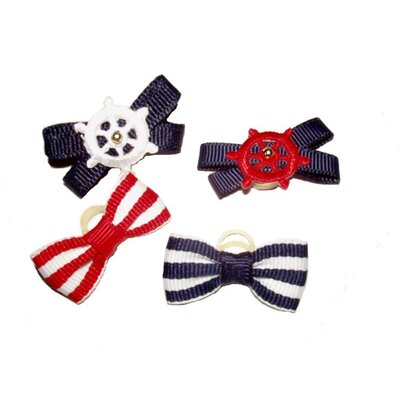 A Pet's World Summer Dog Bows (Set of 8)