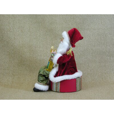 Karen Didion Originals Crakewood Margarita Santa Claus on Base Figurine