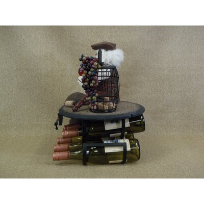 Karen Didion Originals Crakewood Santa Claus 5 Bottle Tabletop Wine Rack