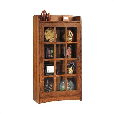 "Anthony Lauren 62"" H Glass Door Bookcase with Left Hinge"