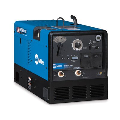 Miller Electric Mfg Co Wildcat 200 Generator Welder 200A with 14 HP Subaru Engine and GFCI Receptacles