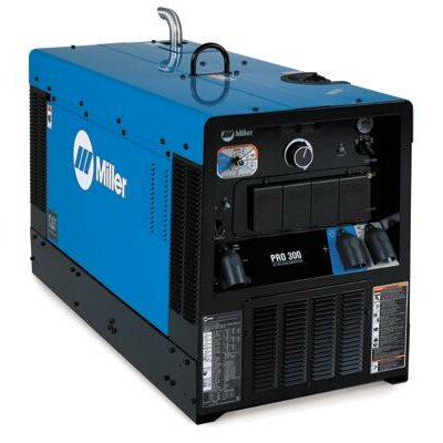Miller Electric Mfg Co Pro 300 CC/CV Generator Welder 410A with 22HP Caterpillar Engine, Starting Aid