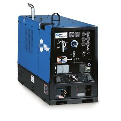 Miller Electric Mfg Co Air Pak CC/CV Generator Welder 750A with 64HP Deutz Diesel Engine and Air Compressor
