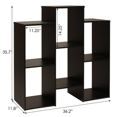 Furinno Parsons Staggered Cube Bookcase