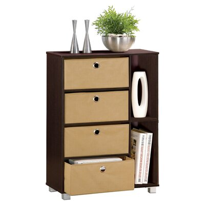 Furinno Espresso Living Multipurpose Storage Shelves Cabinet Dresser