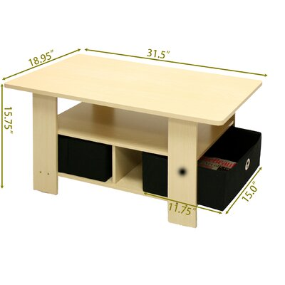 Furinno Steam Beech Living Set Coffee Table