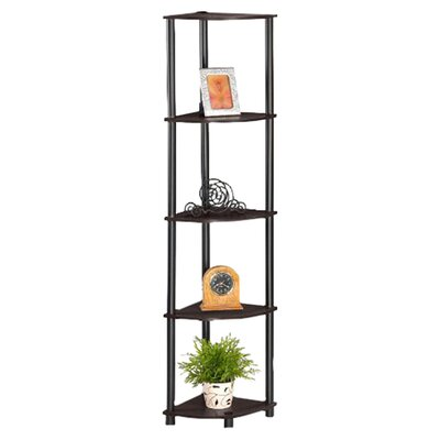 Furinno 5 Tier Corner Rack Display Shelf