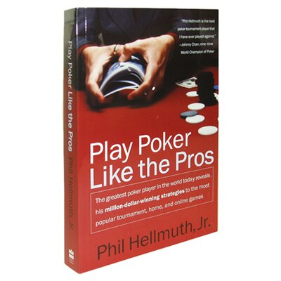 Trademark Global Play Poker Like the Pros Book by Phil Hellmuth