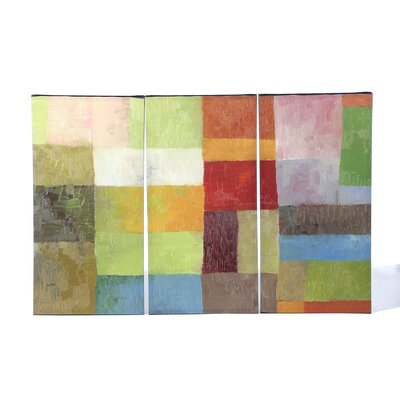 Color Panels IV by Michelle Calkins Canvas Art (Set of 3)