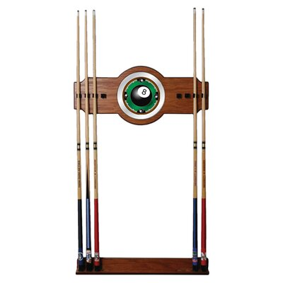 <strong>Trademark Global</strong> 8-Ball Rack'em 2-Piece Wood and Mirror Wall Cue Rack