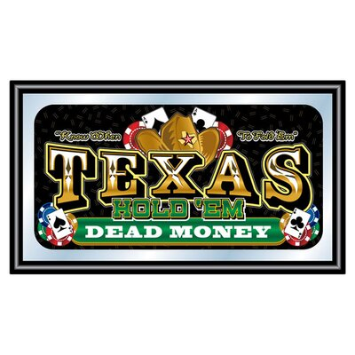 <strong>Trademark Global</strong> Texas Hold'em Framed Poker Mirror - Dead Money