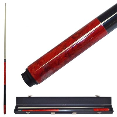 Trademark Global Marble Graphite Billiards Cue in Red