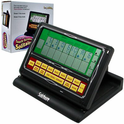 Trademark Global Portable Video Solitaire Machine Touch - Screen 2 in 1 Game