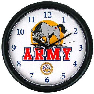 Trademark Global Deluxe Chiming US Army Wall Clock