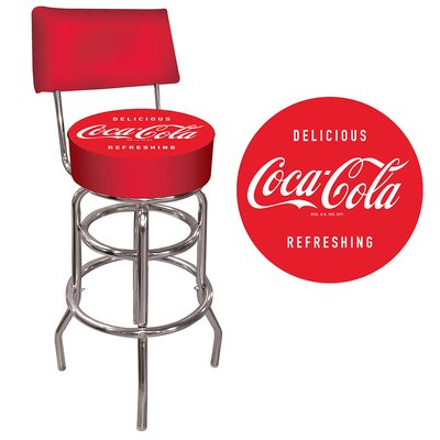 Coca Cola Vintage Pub Bar Stool with Cushion