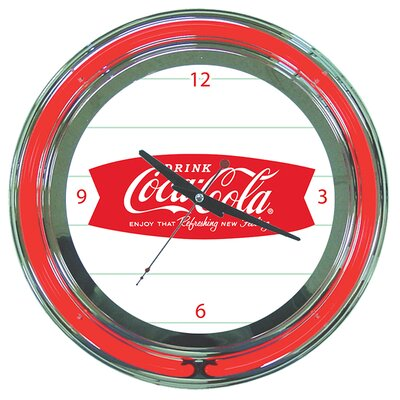 Trademark Global Coca Cola Refreshing Feeling Neon Clock