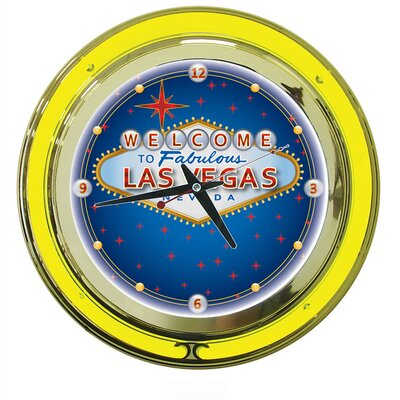 Trademark Global Las Vegas Neon Clock