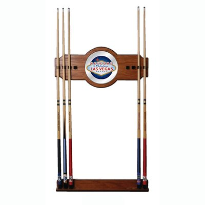 Trademark Global Las Vegas 2-Piece Wood and Mirror Wall Cue Rack