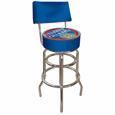 United States Coast Guard Padded Bar Stool with Cushion