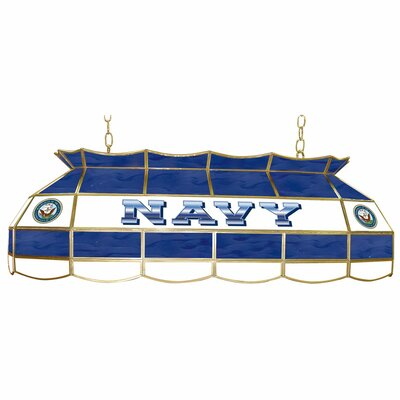 Trademark Global U S Navy Stained Glass Pool Table Light
