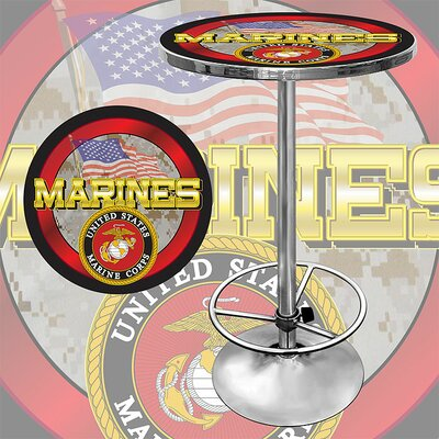 Trademark Global United States Marine Corps Pub Table