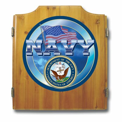 Trademark Global US Navy Dart Cabinet Set