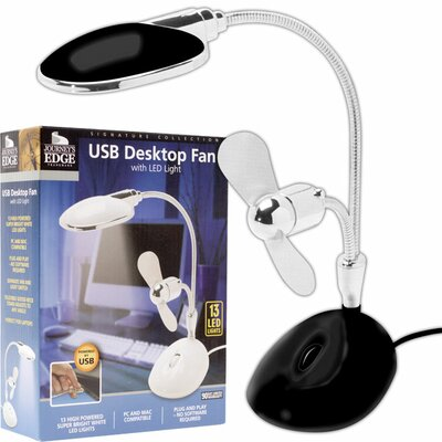 Trademark Global 2 in 1 Laptop Table Lamp with Fan