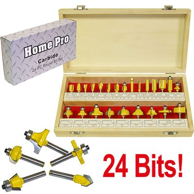 24 Piece Multi-Purpose Router Bit Set