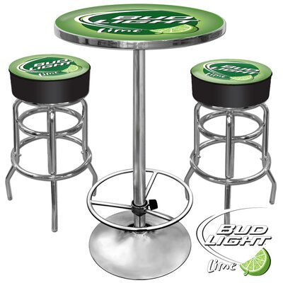 Trademark Global Bud Light 3 Piece Pub Table Set