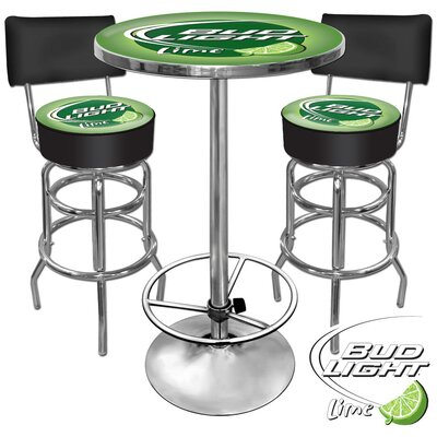 Trademark Global Bud Light Lime Pub Table Set