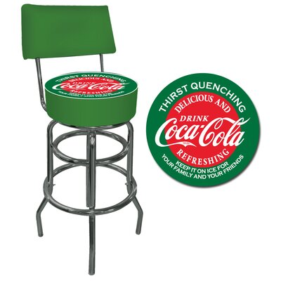 "Trademark Global Coca Cola 30"" Bar Stool with Cushion"