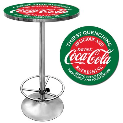 Trademark Global Coca Cola Pub Table in Red and Green