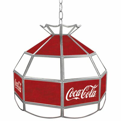 Trademark Global Coca Cola Vintage Stained Tiffany Lamp