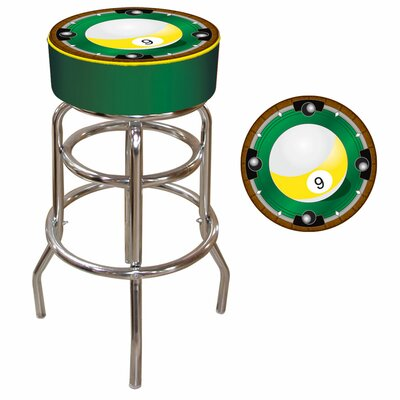 "Trademark Global 30"" 9-Ball Bar Stool with Cushion"