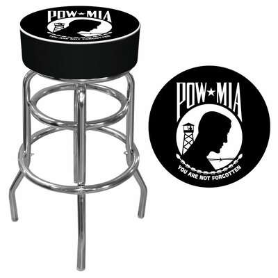 Trademark Global POW Logo Padded Bar Stool