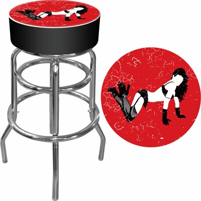 Trademark Global Shadow Babes - B Series - High Grade Padded Bar Stool