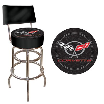 Trademark Global Corvette C5 Swivel Bar Stool with Cushion