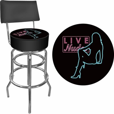 Shadow Babes - D Series - High Grade Swivel Bar Stool with Cushion