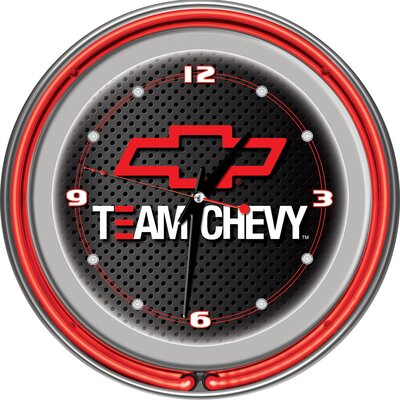 "Trademark Global Team Chevy Racing 14"" Neon Clock"