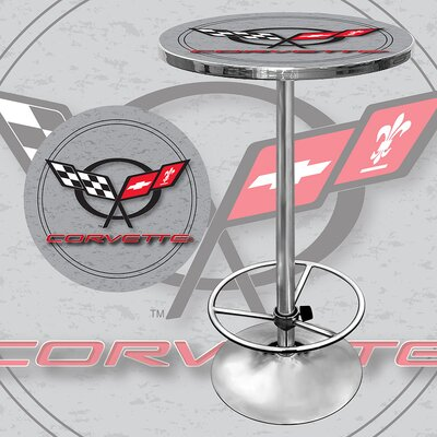 Trademark Global Corvette C5 Pub Table in Silver