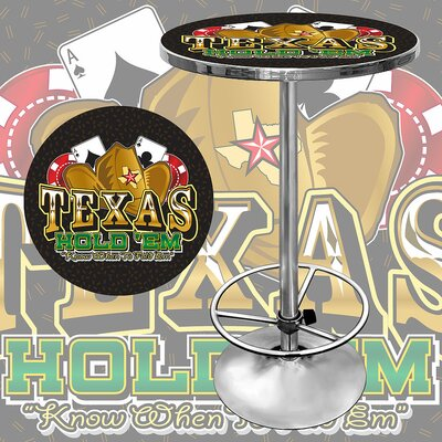 Trademark Global Texas Hold'em Pub Table