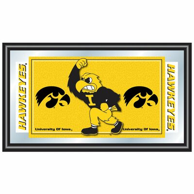 University of Iowa Logo and Mascot Framed Mirror
