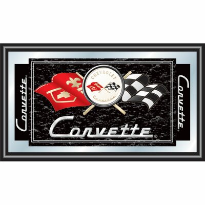 Trademark Global Corvette C1 Framed Mirror in Black