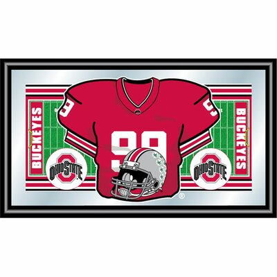 Trademark Global Ohio State Football Framed Jersey Mirror