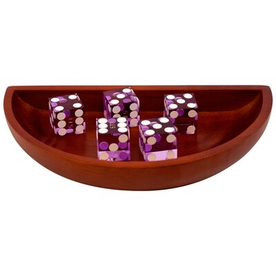 Trademark Global Craps Wooden Dice Boat in Purple