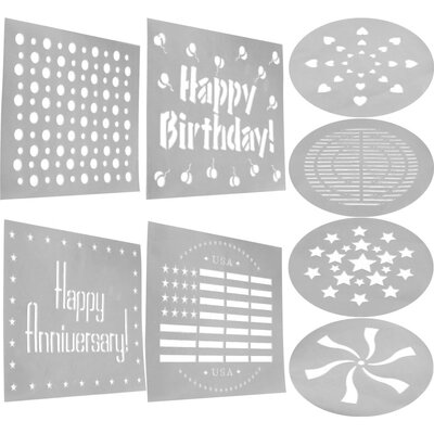 Trademark Global Cookware Decorating Stencil (Set of 8 )