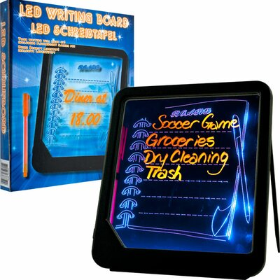 Trademark Global LED Writing Menu Message Board in Black