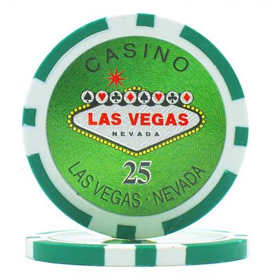 Trademark Global Clay Laser Las Vegas Chip Set with  Aluminum Case